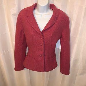 CHANEL 99A size 36 pink wool bouclé BLAZER